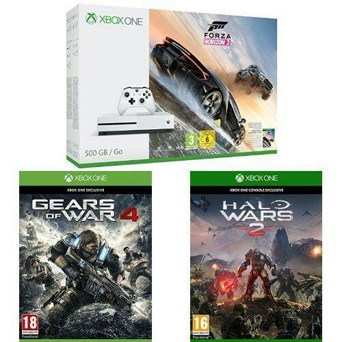 Console Microsoft Xbox One S + Forza Horizon 3 + Gears of War 4 + Halo Wars 2