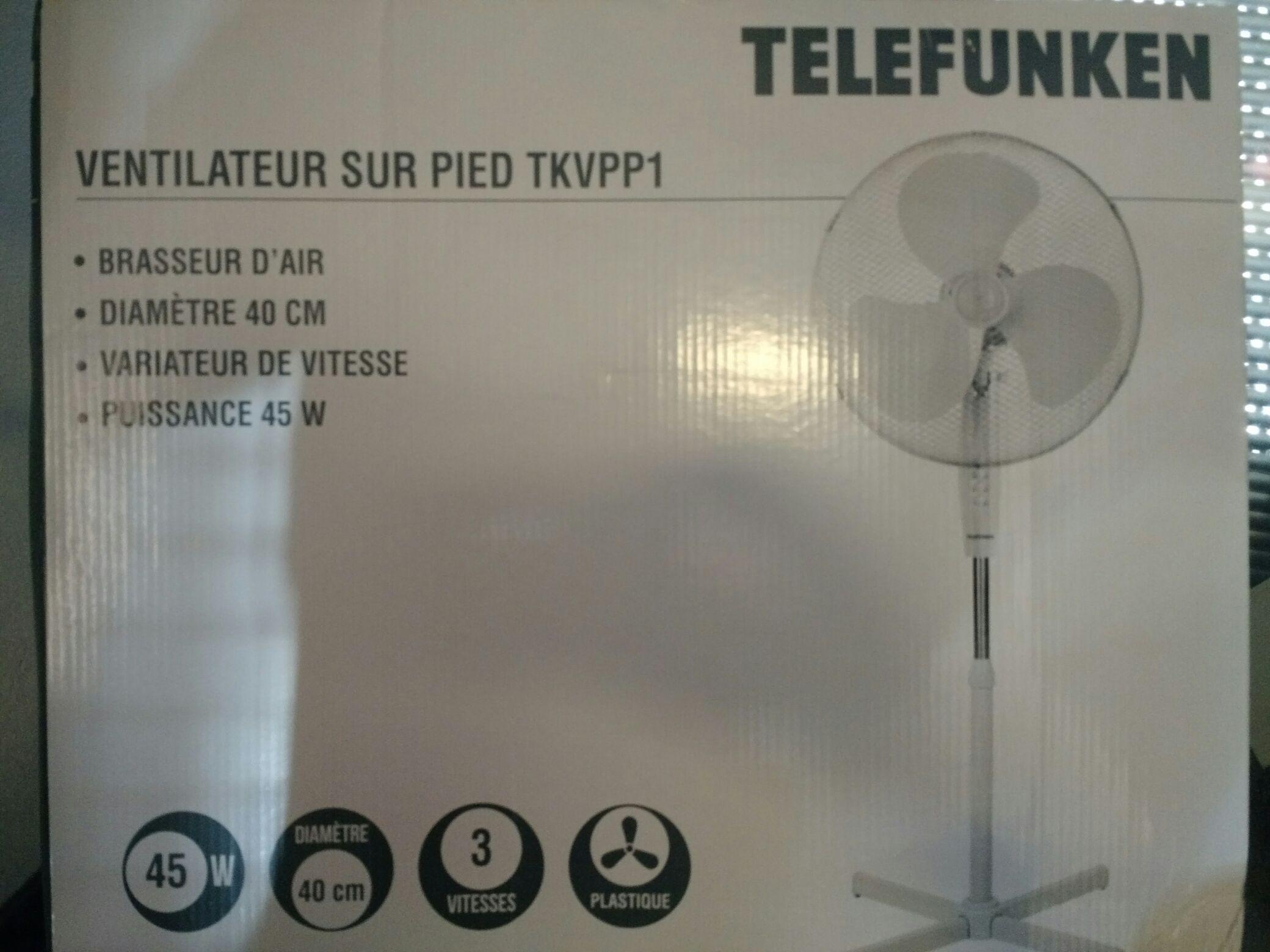 Ventilateur sur pied Telefunken TKVPP1