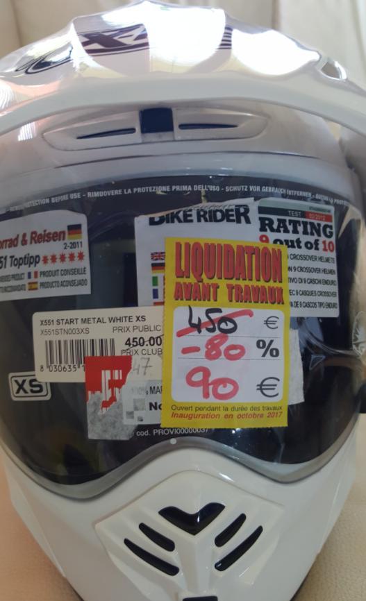 Liquidation totale : Jusqu'à -80% sur tout le magasin (hors véhicules) - Ex : Casque X-Lite X-551