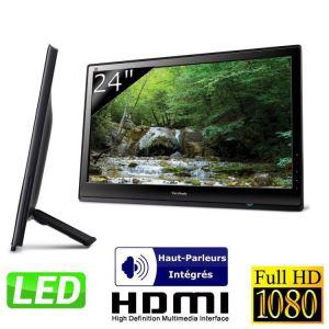 """Ecran PC 24"""" LED Viewsonic VX2453MH-LED Super Slim Full HD"""