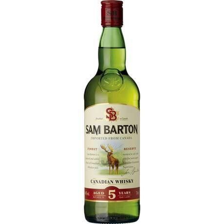 bouteille de Whisky Canadien Sam Barton - 5 ans d'âge, 70cl (via 5.17€ sur la carte )