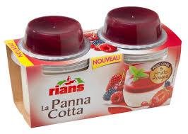 2 lots de Panna Cotta Rians
