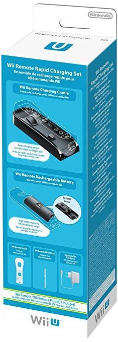 Ensemble de recharge rapide pour Wiimote (Wii/ Wii U/ Wii U Plus)