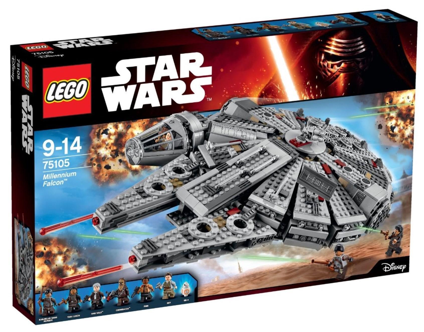 Jeu de construction Lego Star Wars Faucon Millenium n°75105