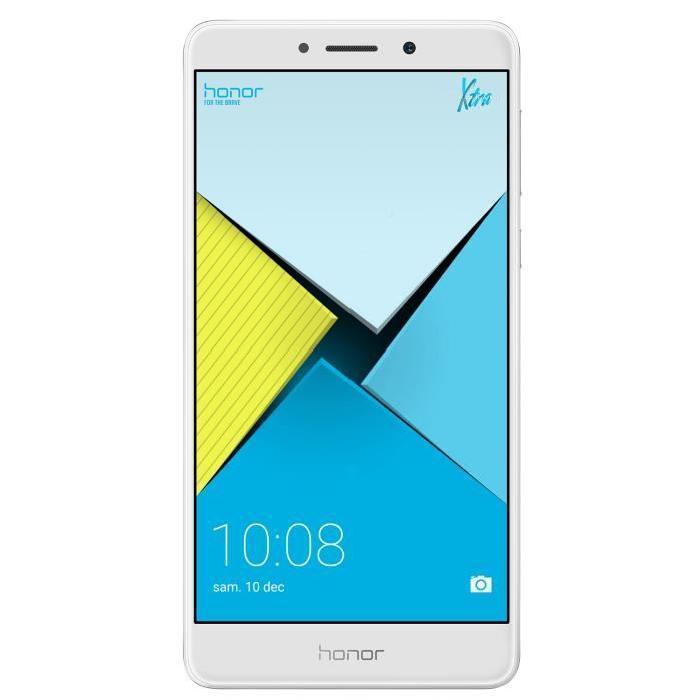 """Smartphone 5.5"""" Honor 6X Silver ou Gris - Full HD, Kirin 655, ROM 32 Go, RAM 3 Go (via ODR de 30€)"""