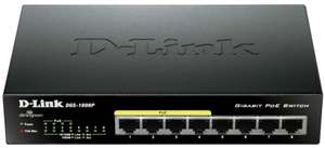 Commutateur switch D-Link DGS 1008P non géré - 8 Ports Gigabit, POE