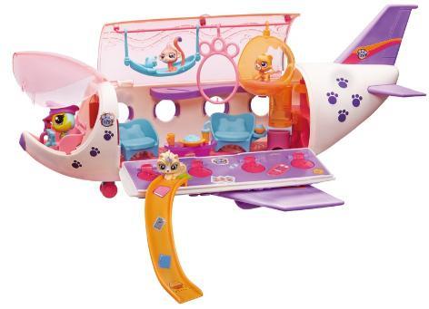 Jouet Hasbro 589978 - L'avion des Petshop + 3 Mini-Petshop
