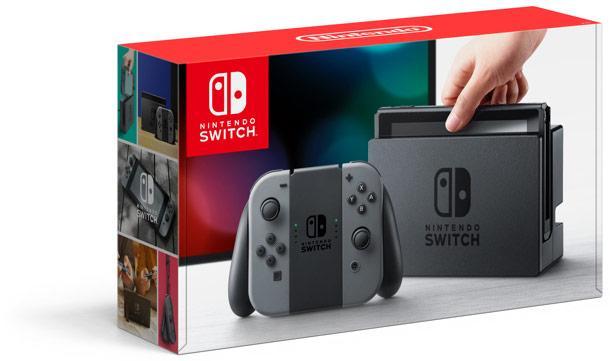 Console Nintendo Switch - avec paire de joy-con (bleu / rouge ou noir)