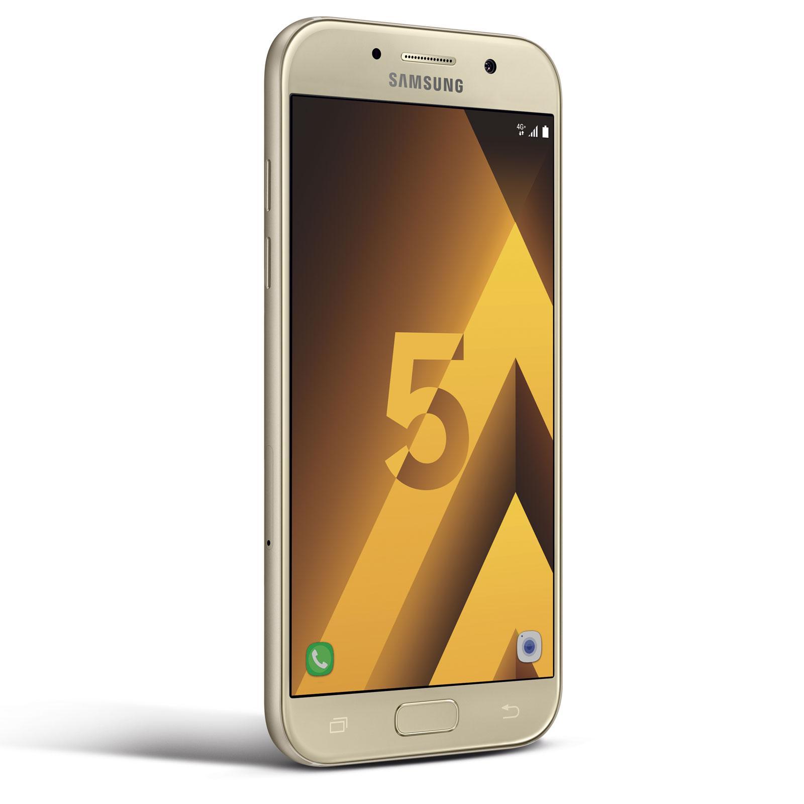 """Smartphone 5.2"""" Samsung Galaxy A5 (2017) - 3 Go de RAM, 32 Go, or (via ODR de 50€)"""