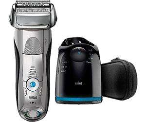 Rasoir à grille Braun 7899cc Series 7 - Wet & Dry, Clean & Charge, argent (via odr de 30€)