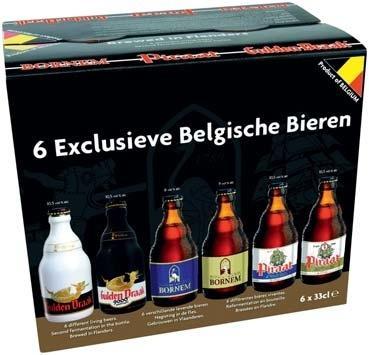 Pack de 6 bières belges - 33 cl