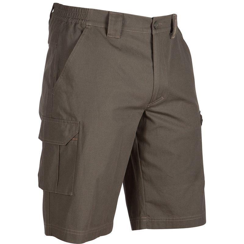 Bermuda homme Solognac couleur bronze (taille L) 100% coton