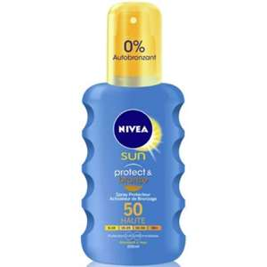 Crème solaire Nivea Sun Spray - IP30, ou 50 -  200 ml (via 5€50 sur la carte)