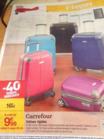 Sélection de valises en promotion - Rigide à roulettes 42 cm (avec cadenas TSA)