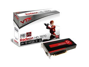 Carte Graphique VTX3D Radeon HD 7870 Ghz Edition, 2 Go + 2 Jeux offerts