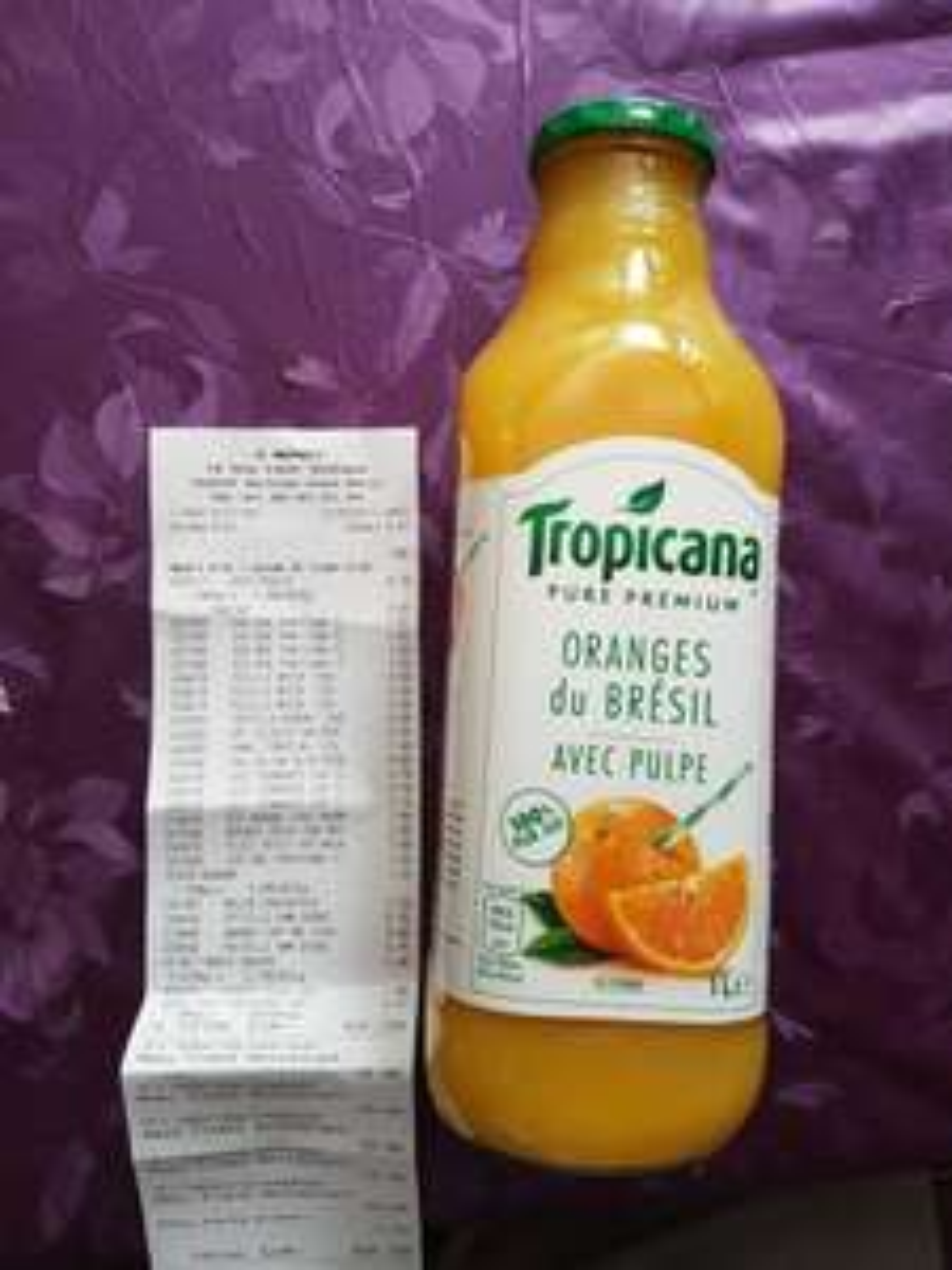 Bouteille de jus d'orange Tropicana - 1L (DLC au 30/06)
