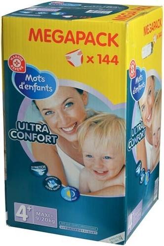 Change bébé Ultra Confort Megapack - x144 (via 5.42€ sur la carte)