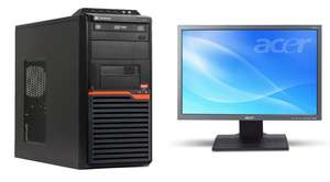 "PC de bureau Gateway DT55 - AMD Athlon II X2 255 - 3.10 Ghz - 3Go de ram + Ecran 19"" Acer B193W - Reconditionné"
