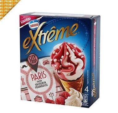 Lot de 2 Boîtes de 4 Cônes Glacés Nestlé Extrême - 2 x 276 g, Parfum au choix (via Shopmium)