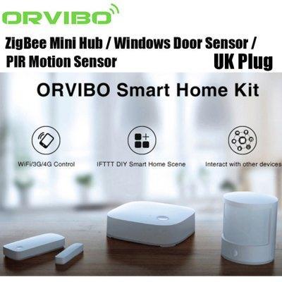 Kit Alarme Orvibo - Centrale multifonction + Capteur Porte/Fenêtre + Capteur de mouvement