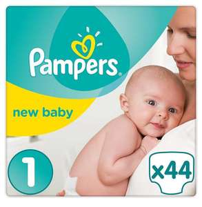 [Panier Plus] Couches Pampers New Baby - Taille 1 (2 à 5 Kg) 2 lots 88 couches