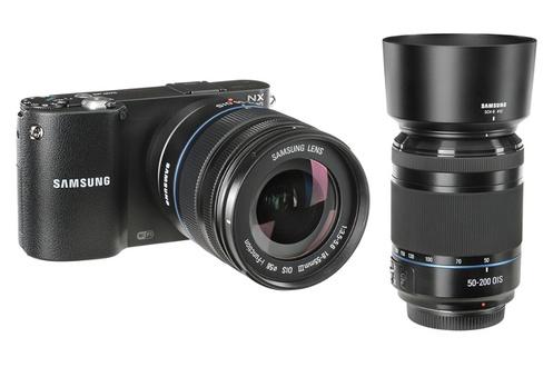 Appareil photo hybride Samsung NX1100 + 2 objectifs 18-55mm et 50-200mm