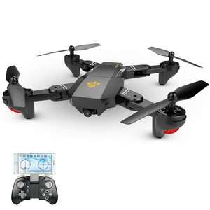 Drone Quadcopter FPV RTF Visuo XS809W (Upgraded Version) avec caméra HD 2.0 MP - 2.4G, Pliable, Wifi