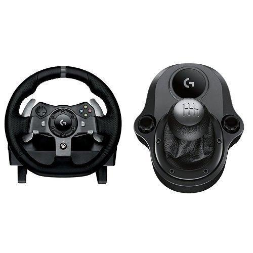 Volant Logitech G920 Driving Force Racing Wheel (Pédalier + Levier de vitesse) - Pour Xbox et PC