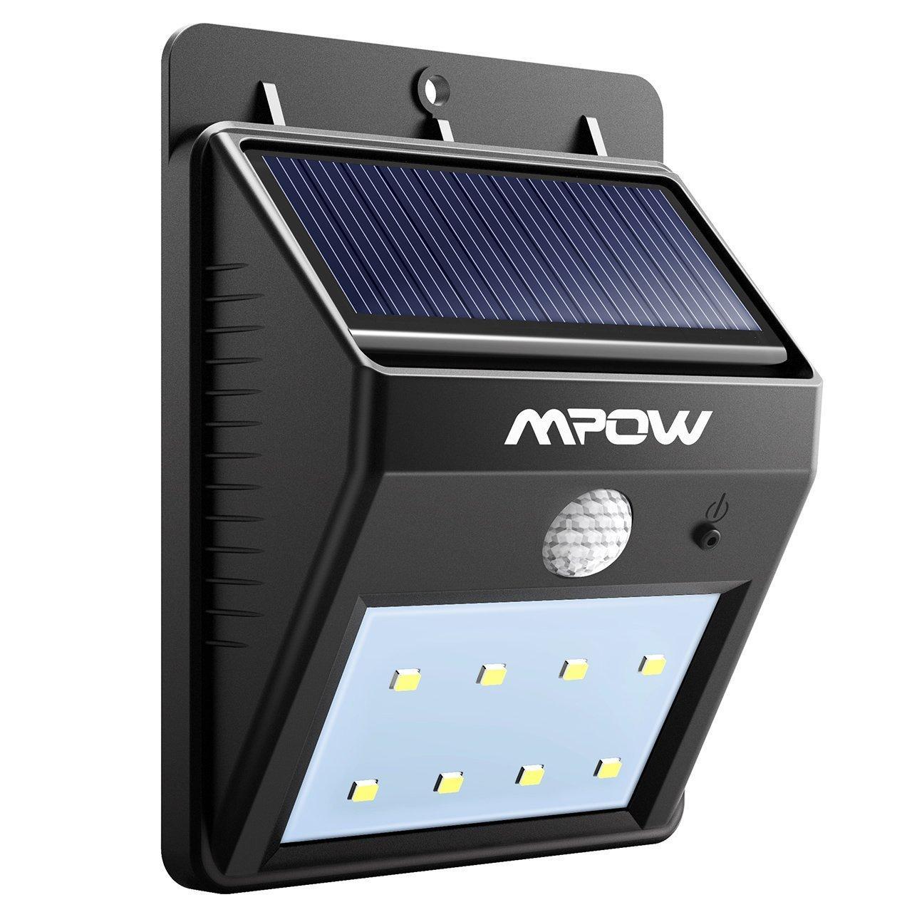 Lampe solaire extérieur Mpow - 8 LED, Étanche, Détecteur de mouvement