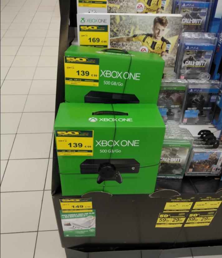 Sélection de consoles en promotion - Ex : Console Xbox One - 500 Go (via 139.9€ sur la carte)