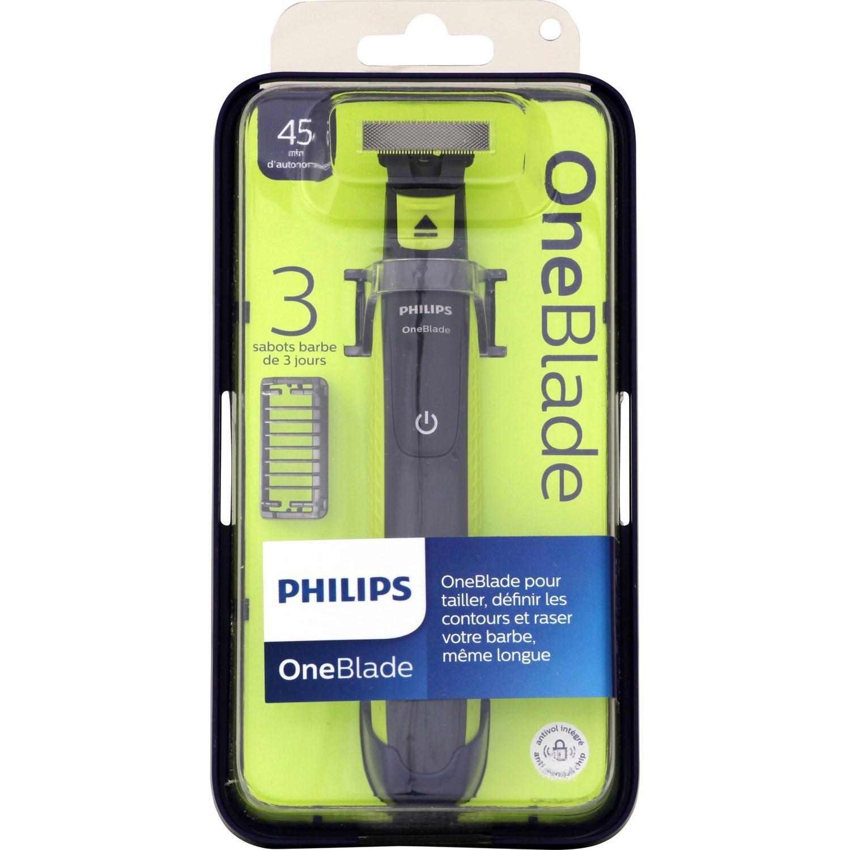 Rasoir Philips OneBlade - avec 3 sabots (via 14.25€ sur la carte de fidélité)