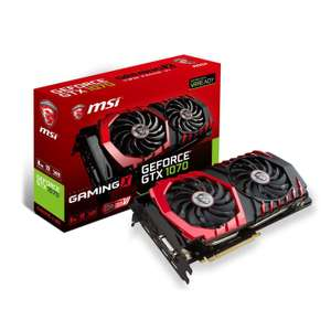Carte graphique MSI GeForce GTX 1070 Gaming X - 8 Go (via ODR de 40€)