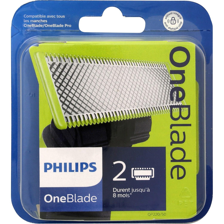 2 Lames de rechange Philips OneBlade (via 12.25€ sur la carte fidélité)