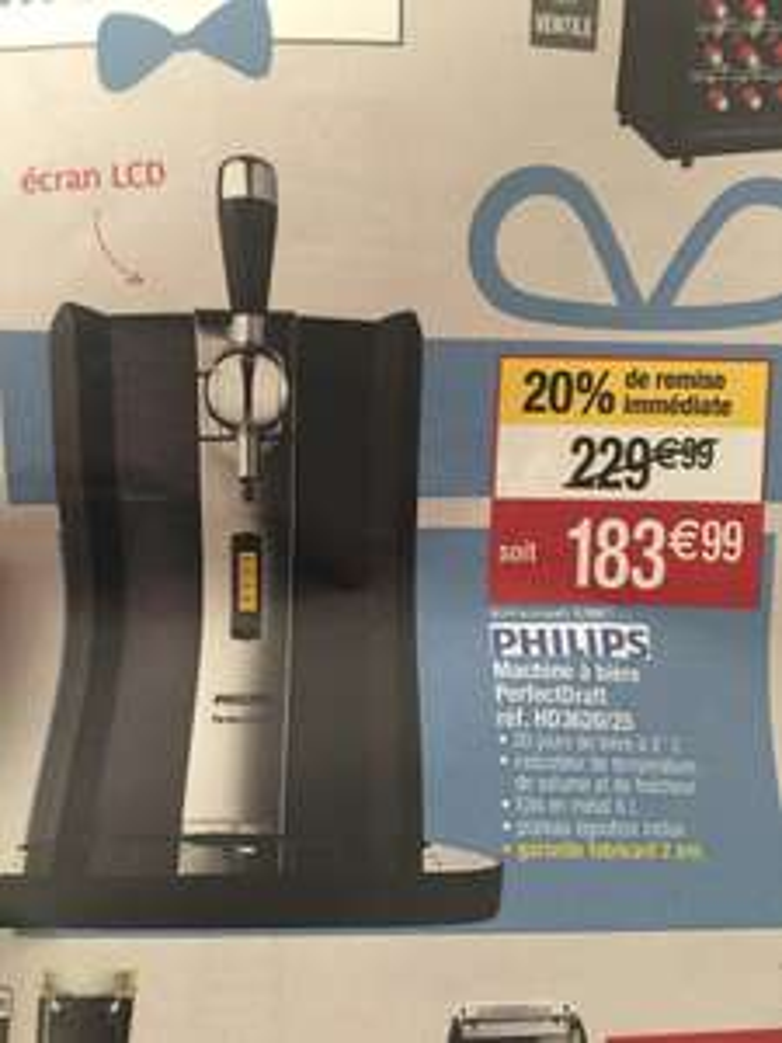 Machine à bière Philips PerfectDraft HD3620/25