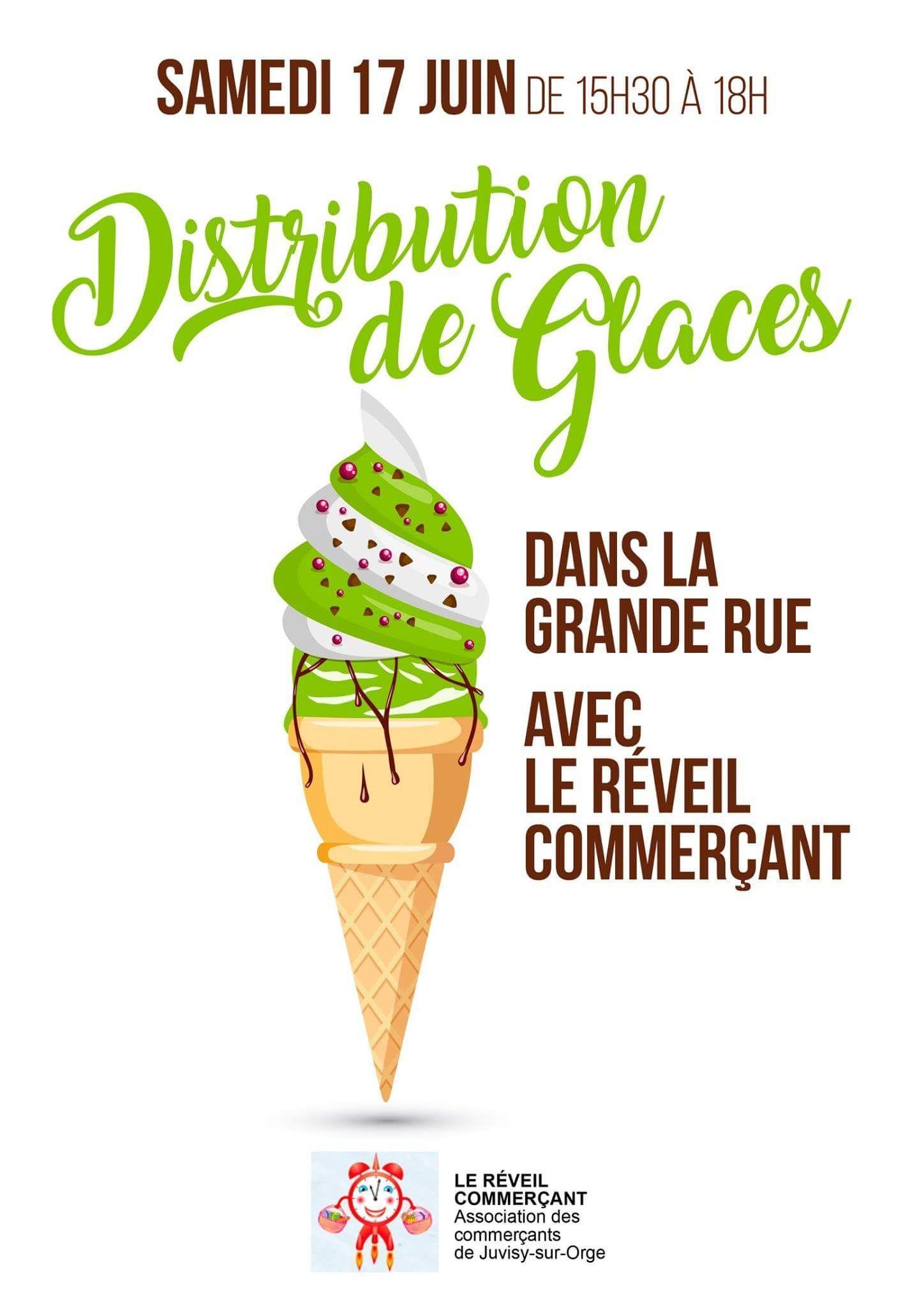 Distribution de glaces gratuites