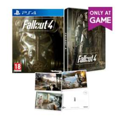 Fallout 4 Edition Steelbook + Cartes postales sur PS4 ou Xbox One (en Anglais)