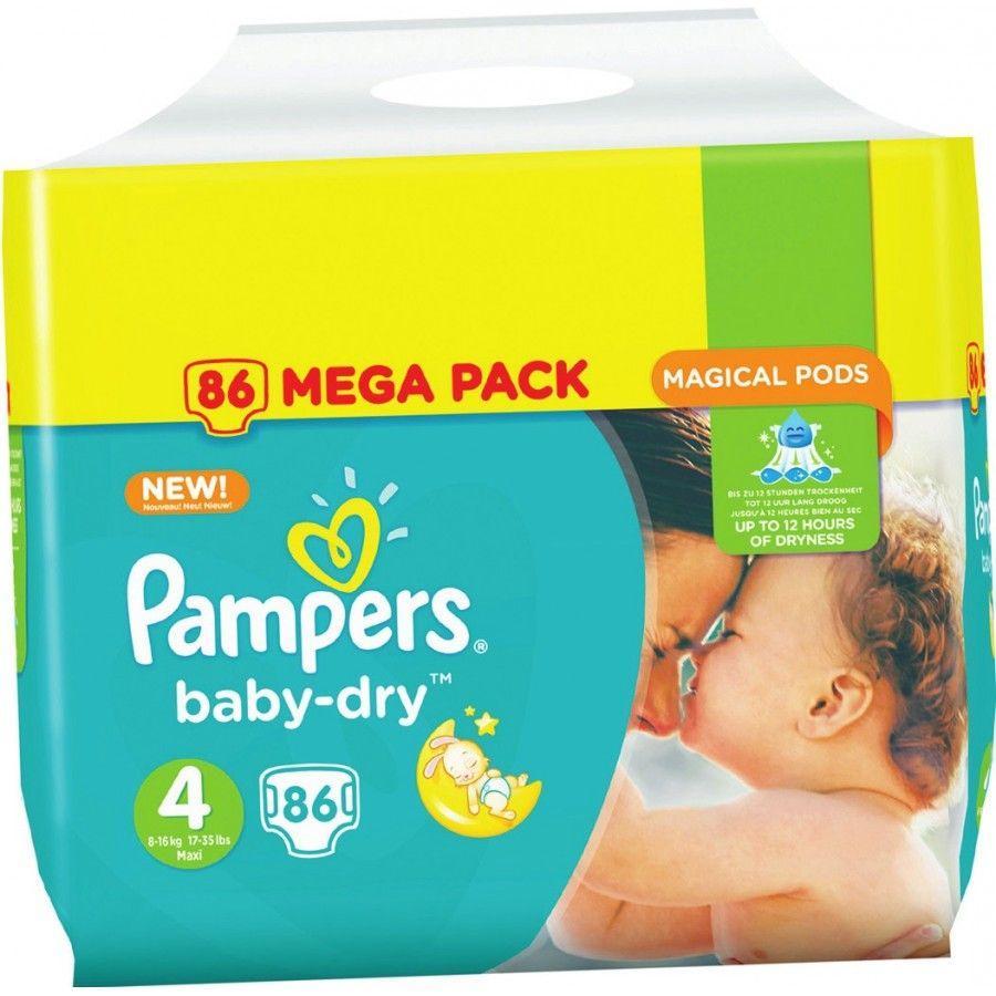 Paquet de couches Pampers Baby-Dry - différentes tailles (via 15.6€ sur la carte de fidélité + BDR de 2€)
