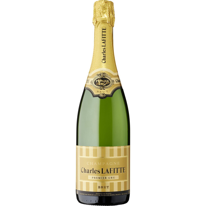 Bouteille de Champagne Charles Lafitte - Brut Premier Cru ou Grande Cuvée rosé, 75 cl