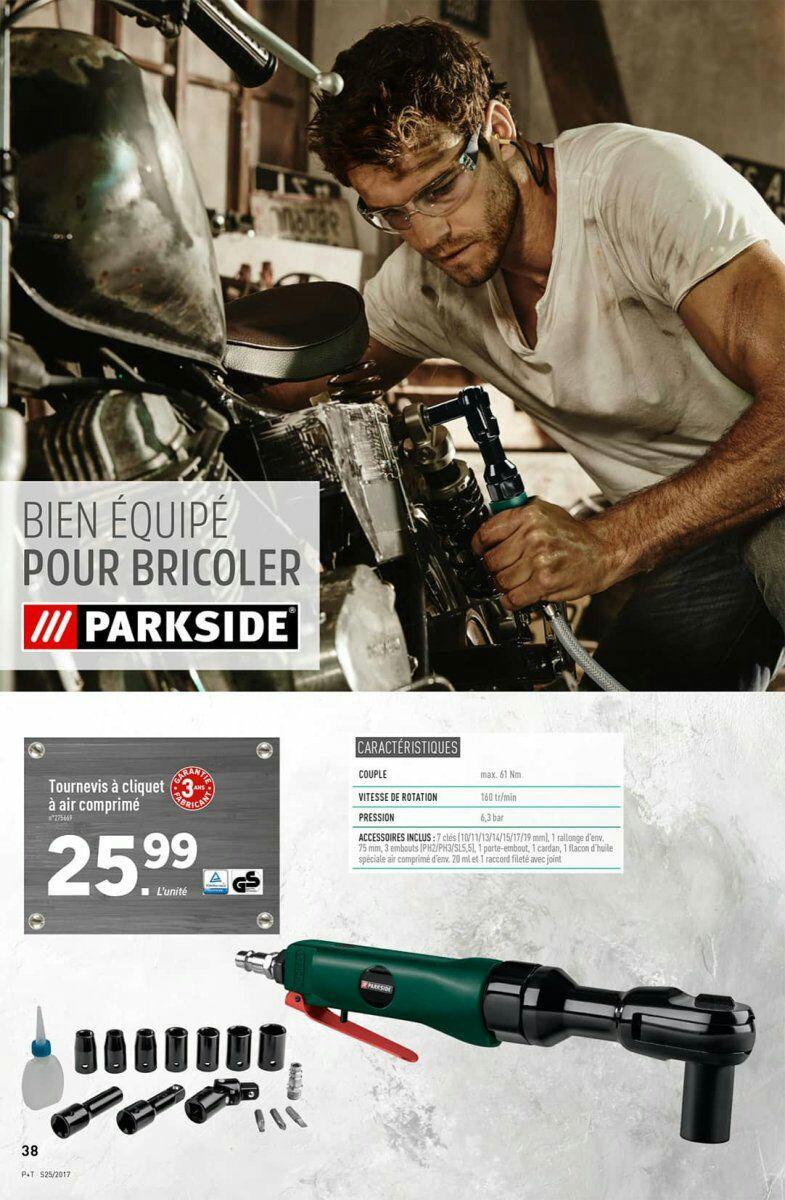 Sélection de produits Parkisde et Powerfix en promotion - Ex : Tournevis à cliquet à air comprimé