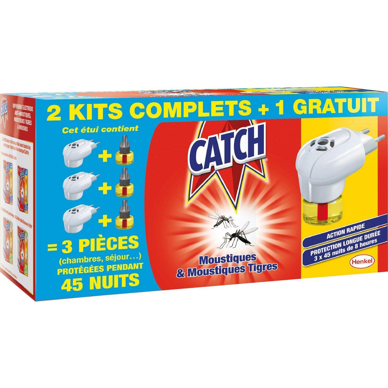 Lot de 3 diffuseurs électriques Anti-moustiques Catch