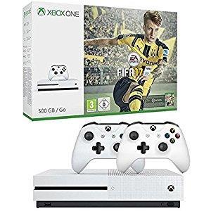 [Prime Jeune] Console Xbox One S 500 Go + Fifa 17 (dématérialisé) + Seconde manette