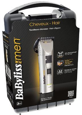 Tondeuse Cheveux BaByliss E780E Line 700 Titane + Mallette Carbon HLD + Accessoires