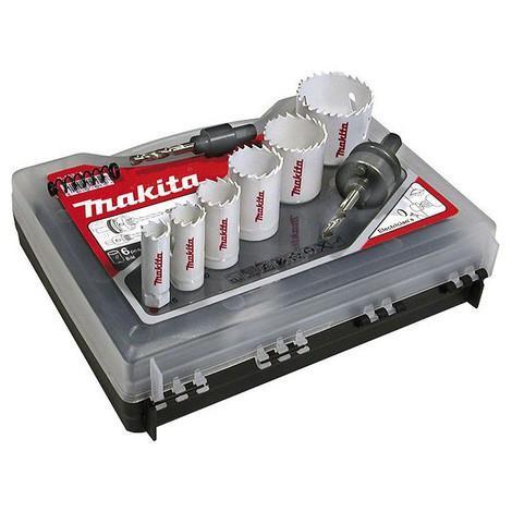 Coffret de 6 scies cloches bi-metal electricien MAKITA D-47123 - Ø16 à 51mm
