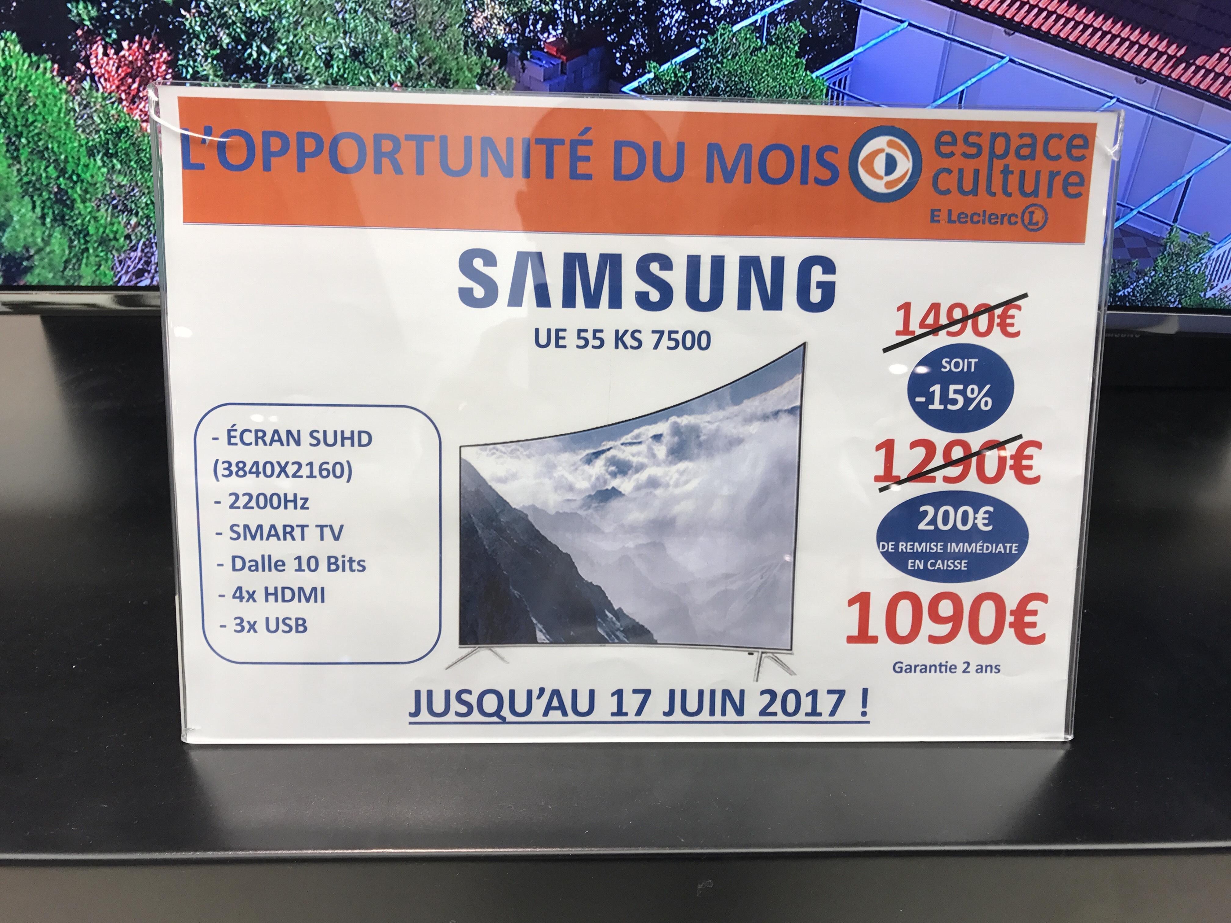 """TV 55"""" Samsung EU55KS7500 - LED, 4K SUHD, Smart TV"""