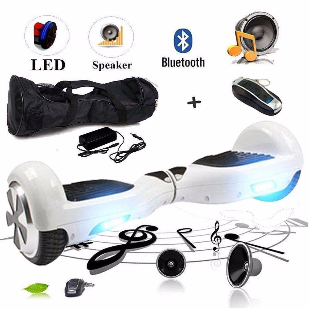 """Gyropode 6.5"""" Bluetooth (différents coloris) + télécommande + housse de transport"""