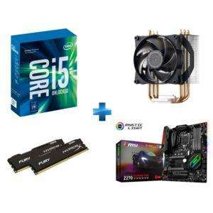 Kit Evo Intel i5 7600k +  Carte mère MSI Z270 Gaming Pro Carbon  + Kit RAM HyperX 16 Go (2 x 8 Go) DDR4 2400 MHz + Ventirad Cooler Master Air Pro 3 + Ghost Recon Wildlands offert