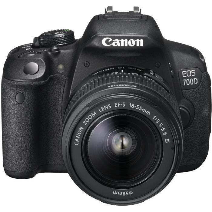 [Cdiscount à Volonté] Pack appareil photo Reflex Canon EOS 700D (18 Mpix, CMOS) + objectif 18-55mm DC