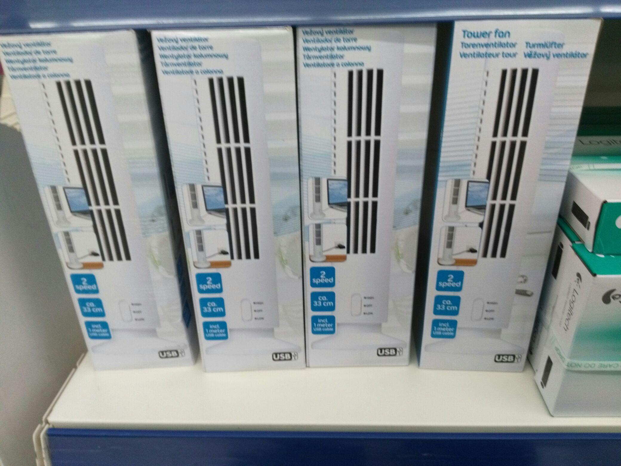 Ventilateur de bureau - Colonne USB - 2 vitesses, 33cm