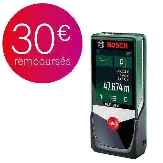 Télémètre laser connecté PLR 50 C Bosch (via ODR 30€)