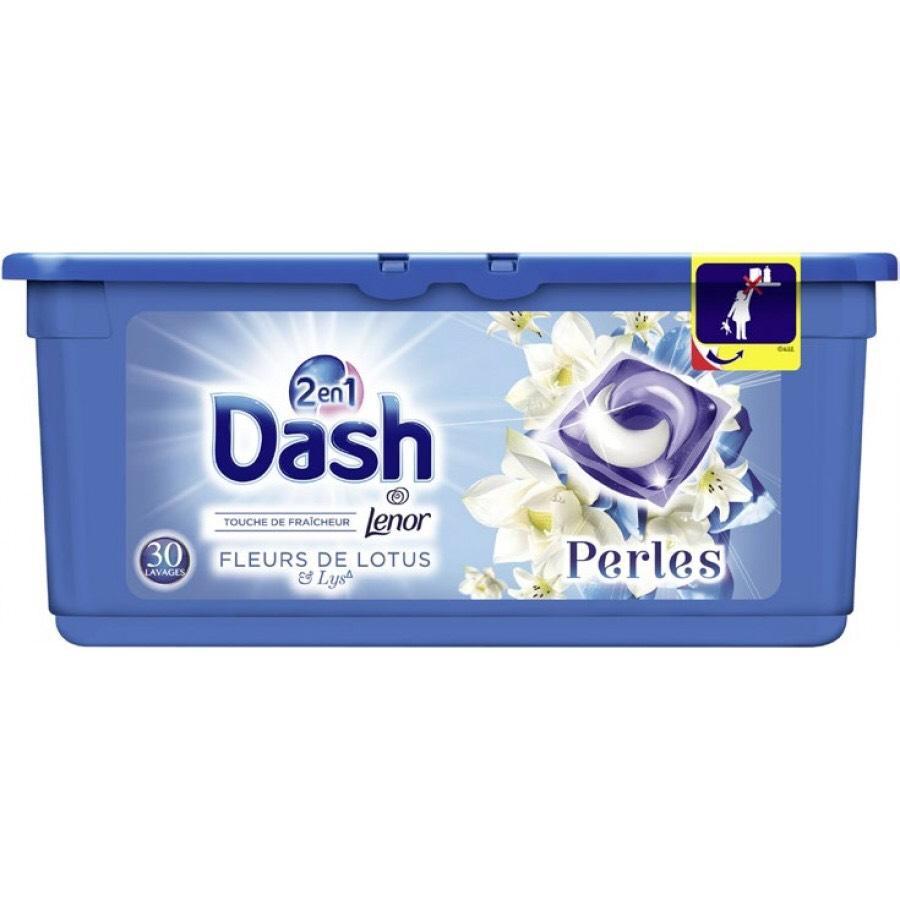 Pack 30 écodoses Lessive 2-en-1 Lenor Dash Perles - Parfum au choix (via BDR + 5.95€ fidélité + Quoty)